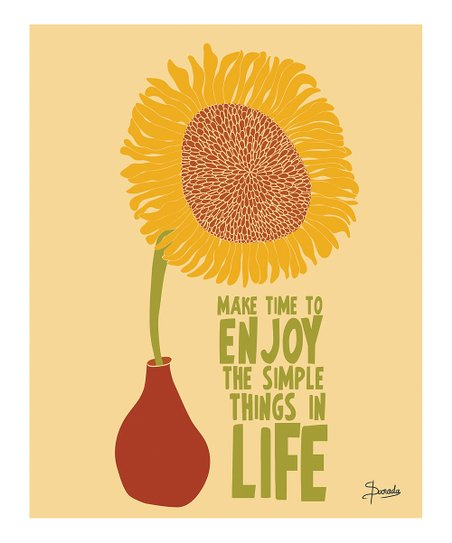 &#039;Enjoy the Simple Things&#039; Print