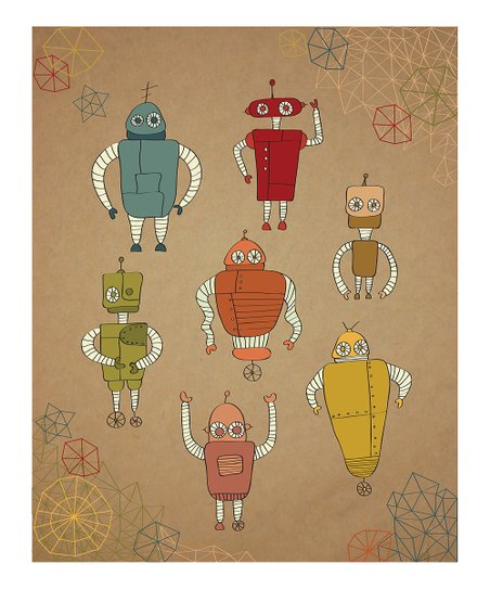 Little Robots Print