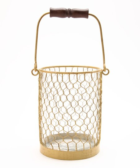 Chicken Wire Tall Candle Holder