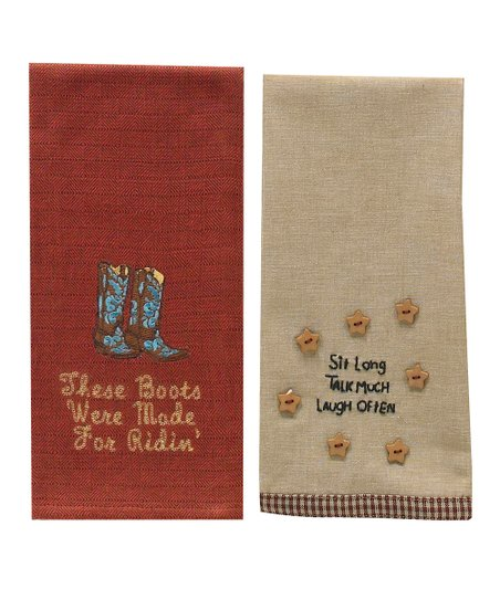 Boots Dish Towel Set