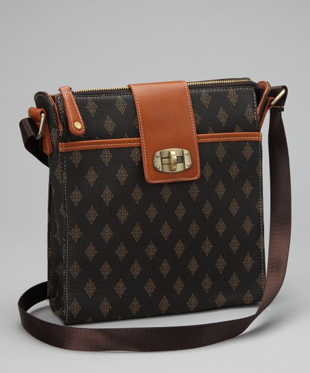 Brown Diamond Edition Crossbody Bag