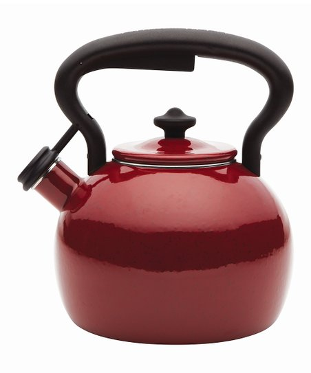 Red 2-Qt. Teakettle