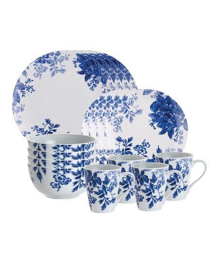 Blue Tatnall Street 16-Piece Dinnerware Set