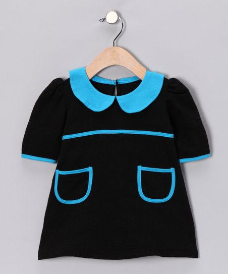 Black &amp; Turquoise Dress - Infant, Toddler &amp; Girls