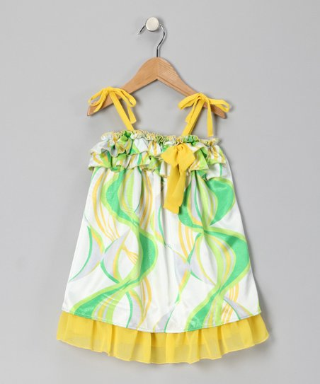 Green Swirl Dress - Toddler