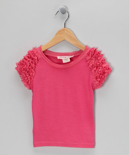 Pink Berry Frill Top - Girls