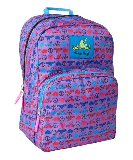 Electric Peace Love Frog Day Trippin' Backpack