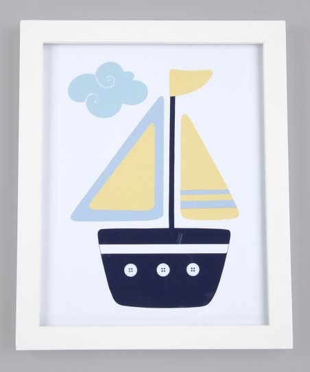 Blue & Yellow Oceanside Ride Print