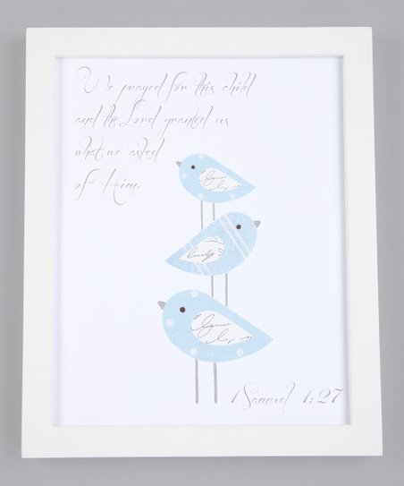 Blue &#039;We Prayed for This Child&#039; Print