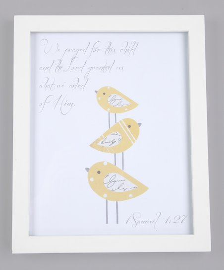 Yellow 'We Prayed for This Child' Print