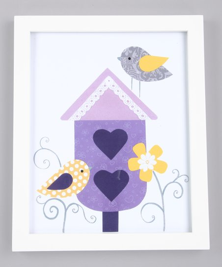 Purple Olivia's Secret Garden Print