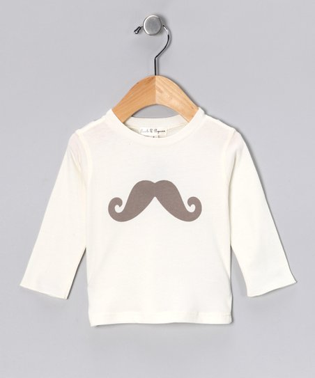 Ivory Sir Moustache Tee - Infant & Toddler