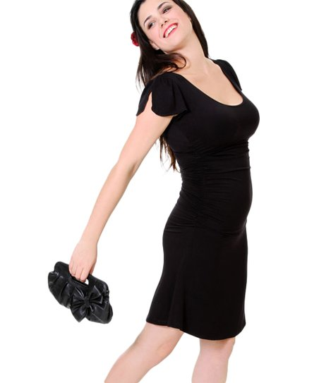 Black Summer Maternity & Nursing Dress - Women