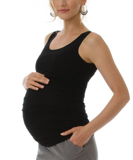 Black Maternity & Nursing Tank