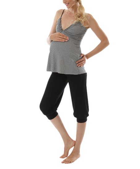 Black Sweet Dreams Maternity & Nursing Pajama Set