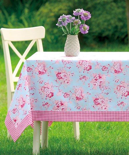 Peking Handicraft Blue Darla Tablecloth