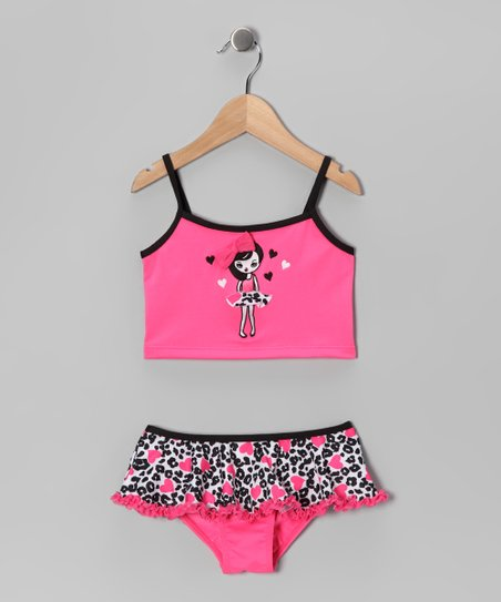 Pink Tiny Dancer Skirted Tankini - Girls