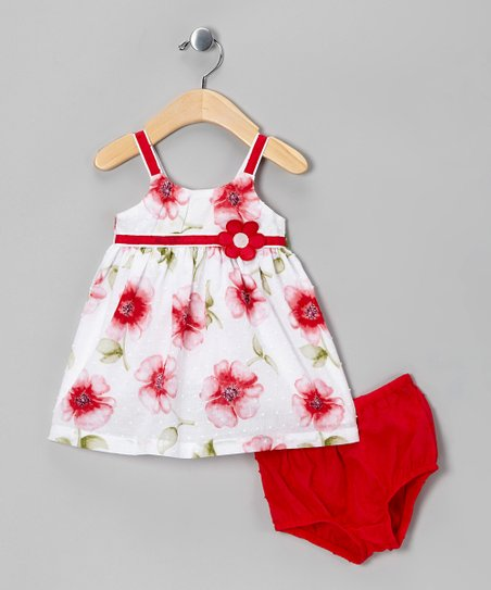 Pink Floral Dress &amp; Diaper Cover - Infant