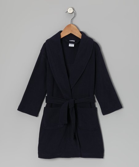 Navy Fleece Robe - Toddler