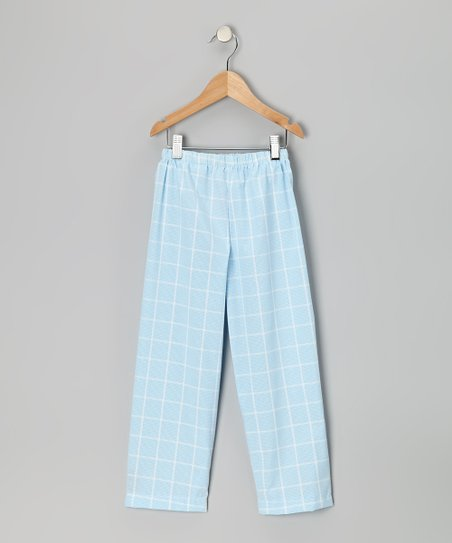 Light Blue Plaid Pants - Infant & Toddler