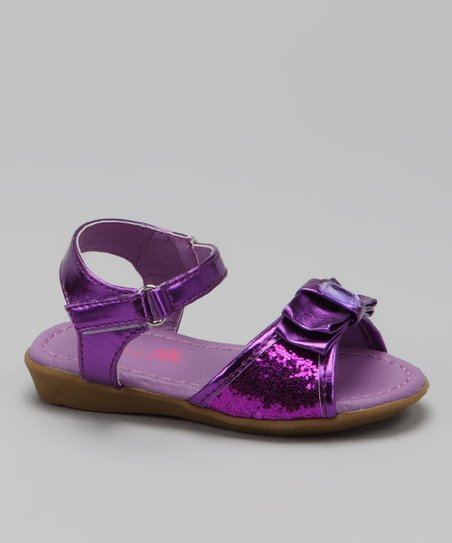 Purple Glitter Destiny Sandal