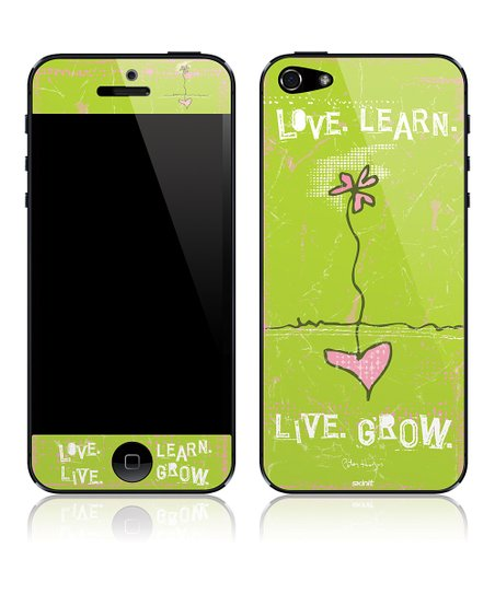 'Love. Learn. Live. Grow.' Art Skin for iPhone 5