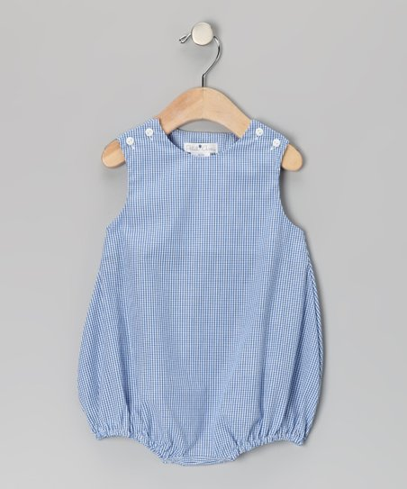 Blue Gingham Bubble Bodysuit - Infant