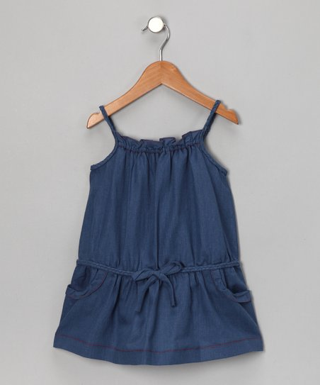 Indigo Drop-Waist Dress - Girls