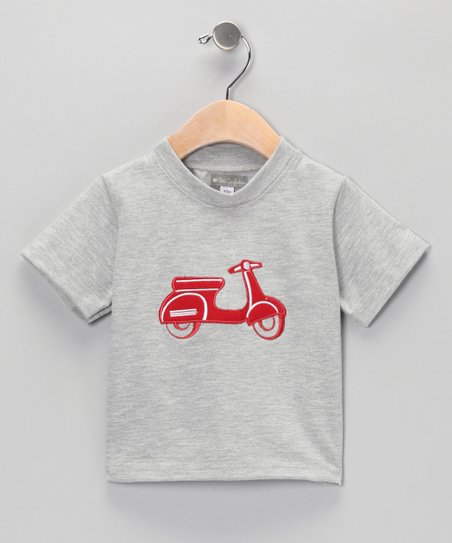 Gray & Red Vespa Tee - Infant