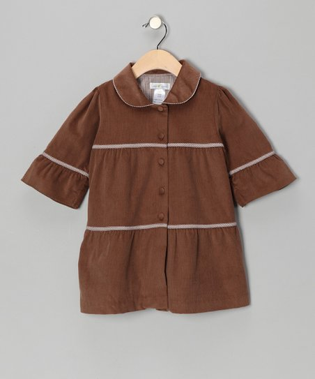 Chocolate Corduroy Coat - Infant & Toddler