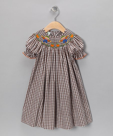 Brown Scarecrow Bishop Dress - Girls