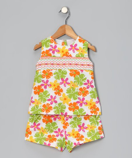 Hawaiian Floral Tunic & Shorts - Toddler & Girls