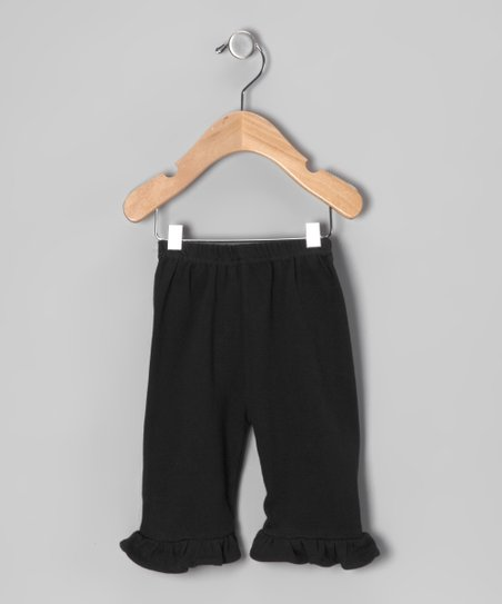 Black Ruffle Pants - Infant