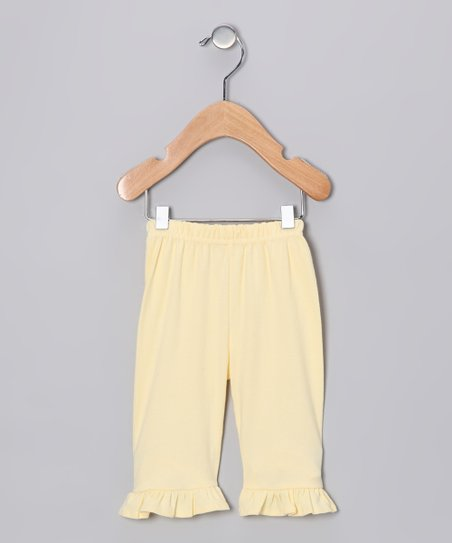 Yellow Ruffle Pants - Infant, Toddler & Girls