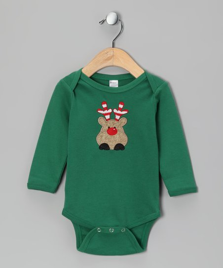 Green Rudolph Bodysuit - Infant