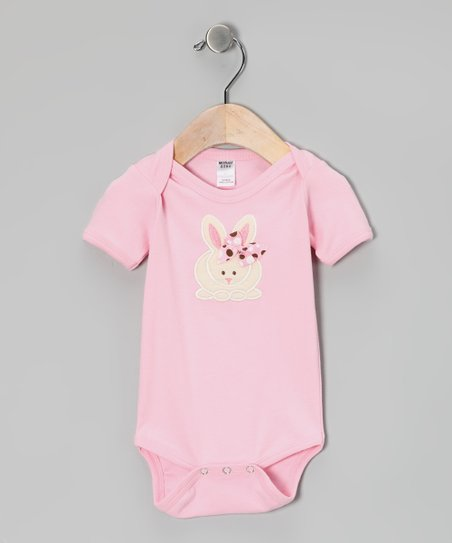 Pink Bow Bunny Bodysuit - Infant