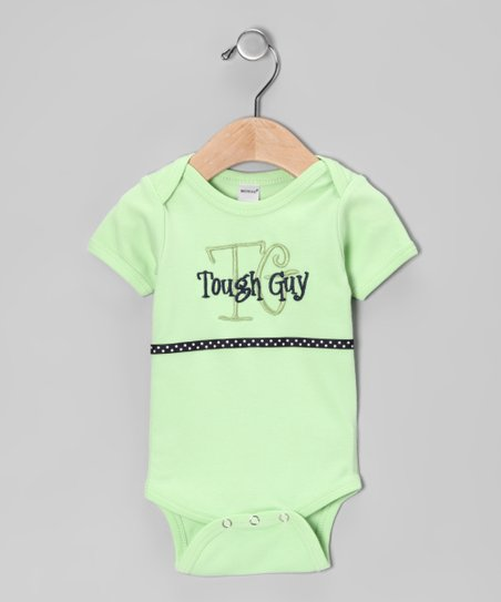Green 'Tough Guy' Bodysuit - Infant