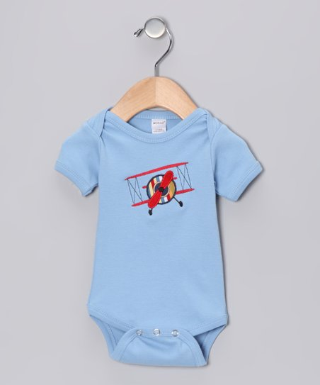 Blue Airplane Bodysuit - Infant