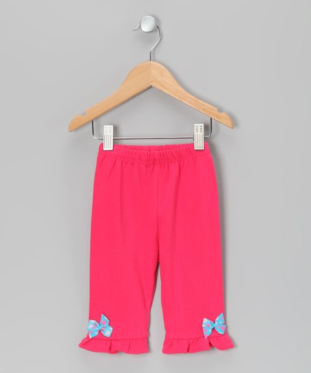 Fuchsia Valentine Ruffle Pants - Infant & Toddler
