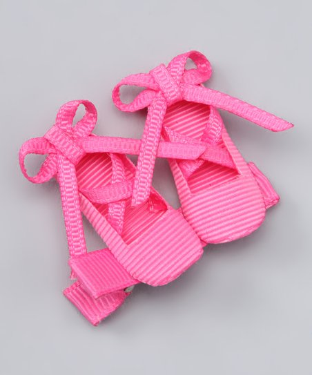 Hot Pink Ballet Slipper Clip