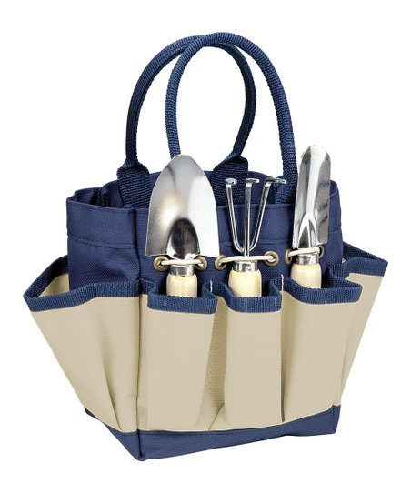 Navy &amp; Cream Small Garden Tote