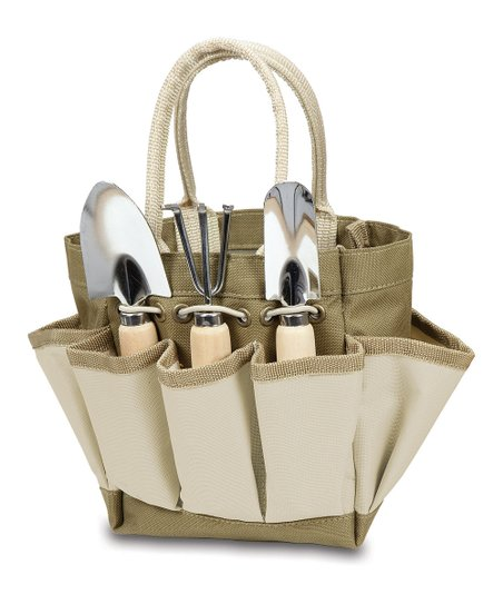 Khaki & Cream Small Garden Tote