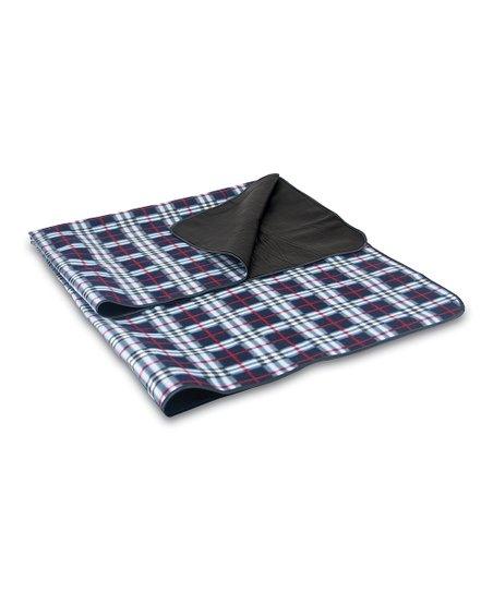 Black Plaid Blanket Tote