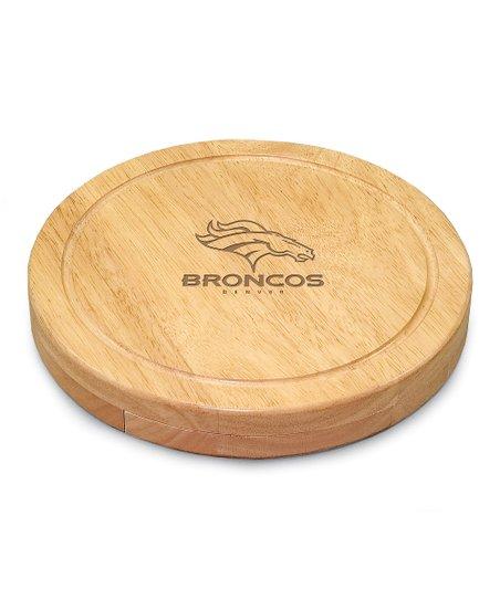 Denver Broncos Circo Cheese Cutting Board Set