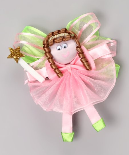 Picture Perfect Hair Bows Pink & Green Fairy Princess Clip