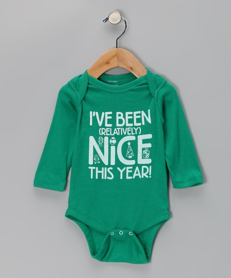 Green 'Been Nice' Bodysuit - Infant