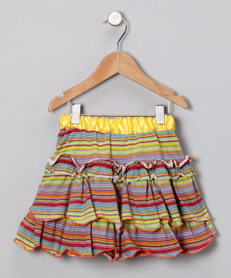 Serenity Stripe Ruffle Skirt - Toddler