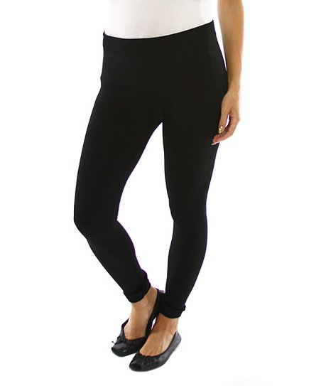 PinkBlush Black Mid-Belly Maternity Leggings