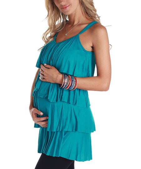 PinkBlush Aqua Tiered Maternity Tank