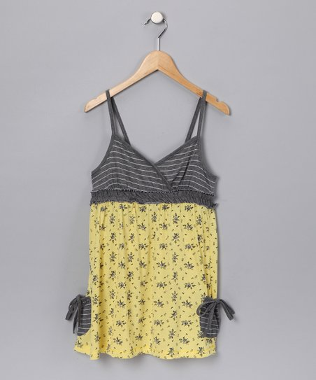 Yellow Pocket Babydoll - Girls